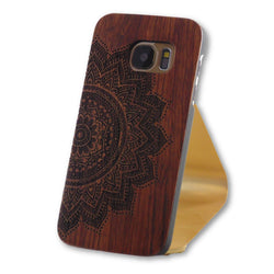 Samsung Galaxy S7 Mandala Art Engraved Wood Case-FlagshipsGear