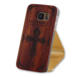 Samsung Galaxy S7 Holy Bible Cross Engraved Wood Case-FlagshipsGear