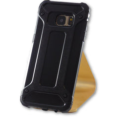 Samsung Galaxy S7 Edge Black Hybrid Tough Armor Case-FlagshipsGear