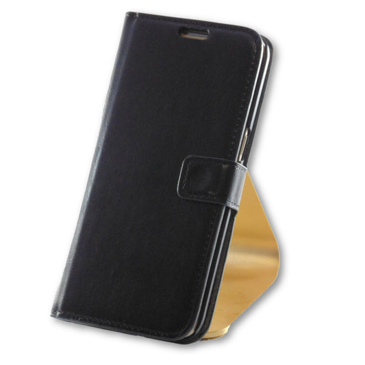 Samsung Galaxy S7 Edge Black Leather Wallet Folio Flip Case-FlagshipsGear