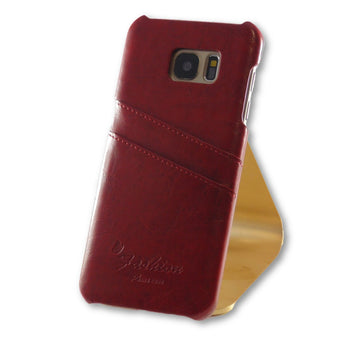 Samsung Galaxy S7 Edge Brown Leather Back Case-FlagshipsGear
