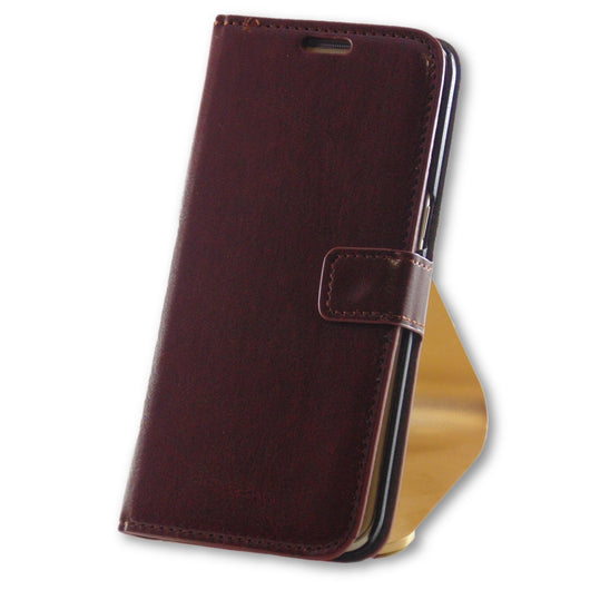 Mobile Phone Case - Samsung Galaxy S7 Edge Brown Leather Wallet Case