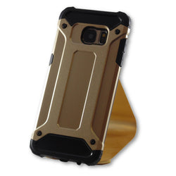 Samsung Galaxy S7 Edge Gold Hybrid Tough Armor Case-FlagshipsGear