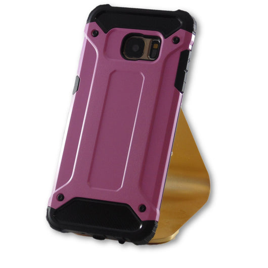 Samsung Galaxy S7 Edge Pink Hybrid Tough Armor Case-FlagshipsGear