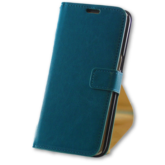 Samsung Galaxy S7 Edge Blue Leather Wallet Folio Flip Case-FlagshipsGear