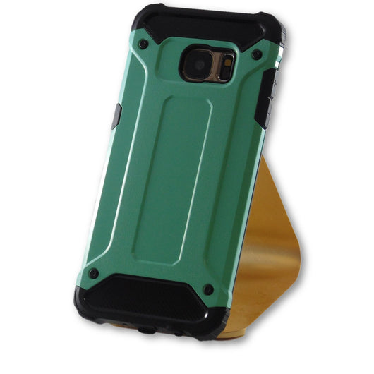 Samsung Galaxy S7 Edge Mint Green Hybrid Tough Armor Case-FlagshipsGear