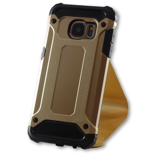 new arrival 00d04 45163 Samsung Galaxy S7 Gold Hybrid Tough Armor Case