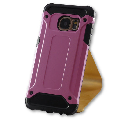 Mobile Phone Case - Samsung Galaxy S7 Pink Armor Case