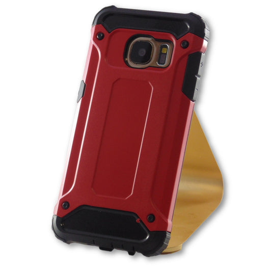 Samsung Galaxy S7 Red Hybrid Tough Armor Case-FlagshipsGear