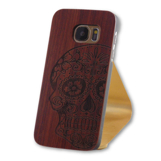 Samsung Galaxy S7 Skull Art Engraved Wood Case-FlagshipsGear