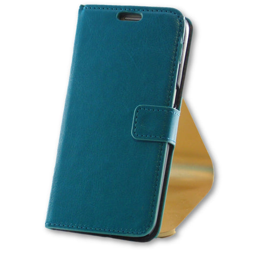 Samsung Galaxy S7 Blue Leather Wallet Folio Flip Case-FlagshipsGear