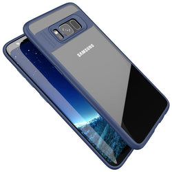 Samsung Galaxy S8 Plus Clear/Navy Blue Slim Hybrid Protective Case-FlagshipsGear