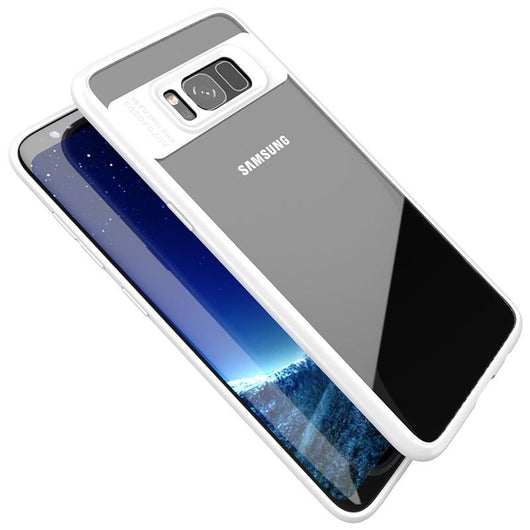 Samsung Galaxy S8 Plus Clear/White Slim Hybrid Protective Case-FlagshipsGear