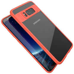 Samsung Galaxy S8 Clear/Red Slim Hybrid Protective Case-FlagshipsGear