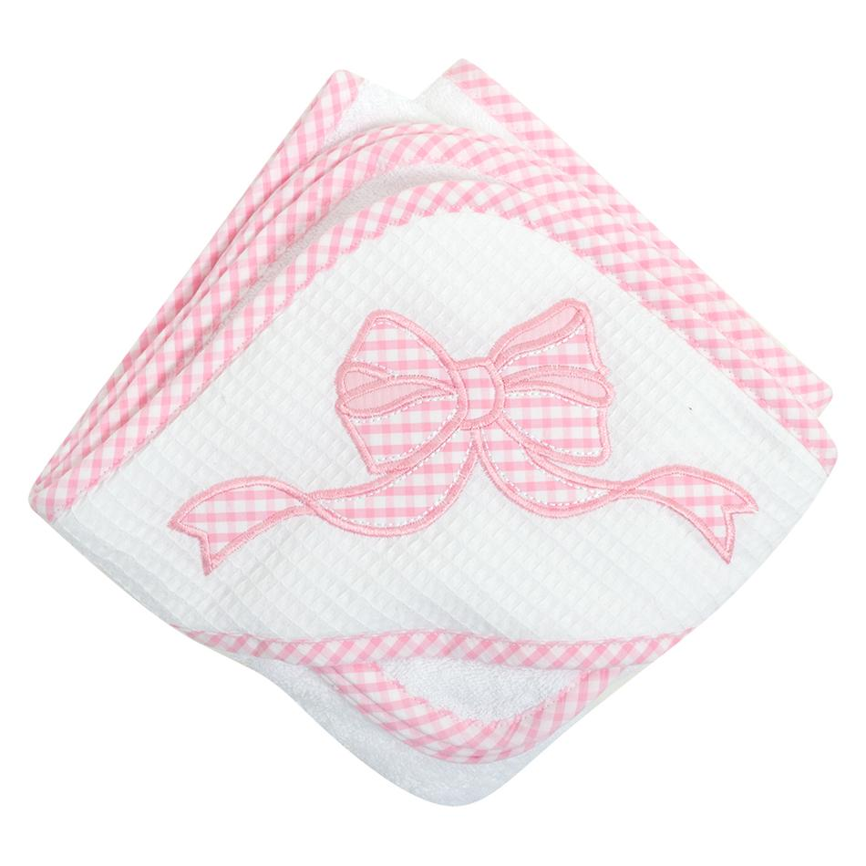 Bow Hooded Towel & Washcloth Set