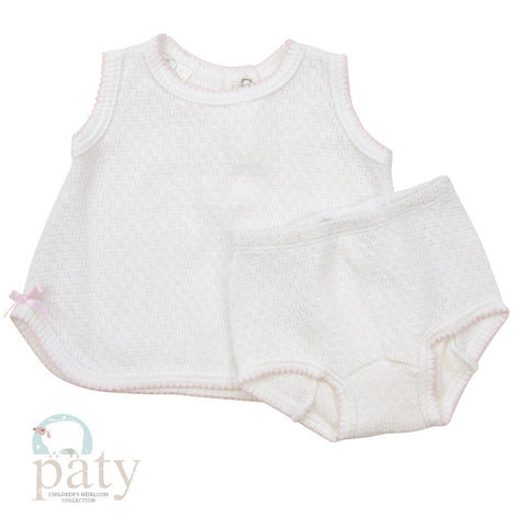 White/Pink Diaper Set