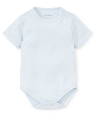 Pointelle Onesie: Blue