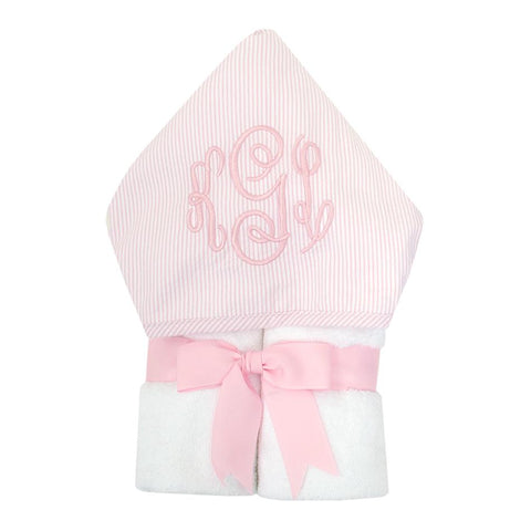 Pink Seersucker Stripe Everykid Towel