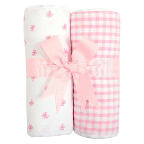Bow Burp Cloths Set