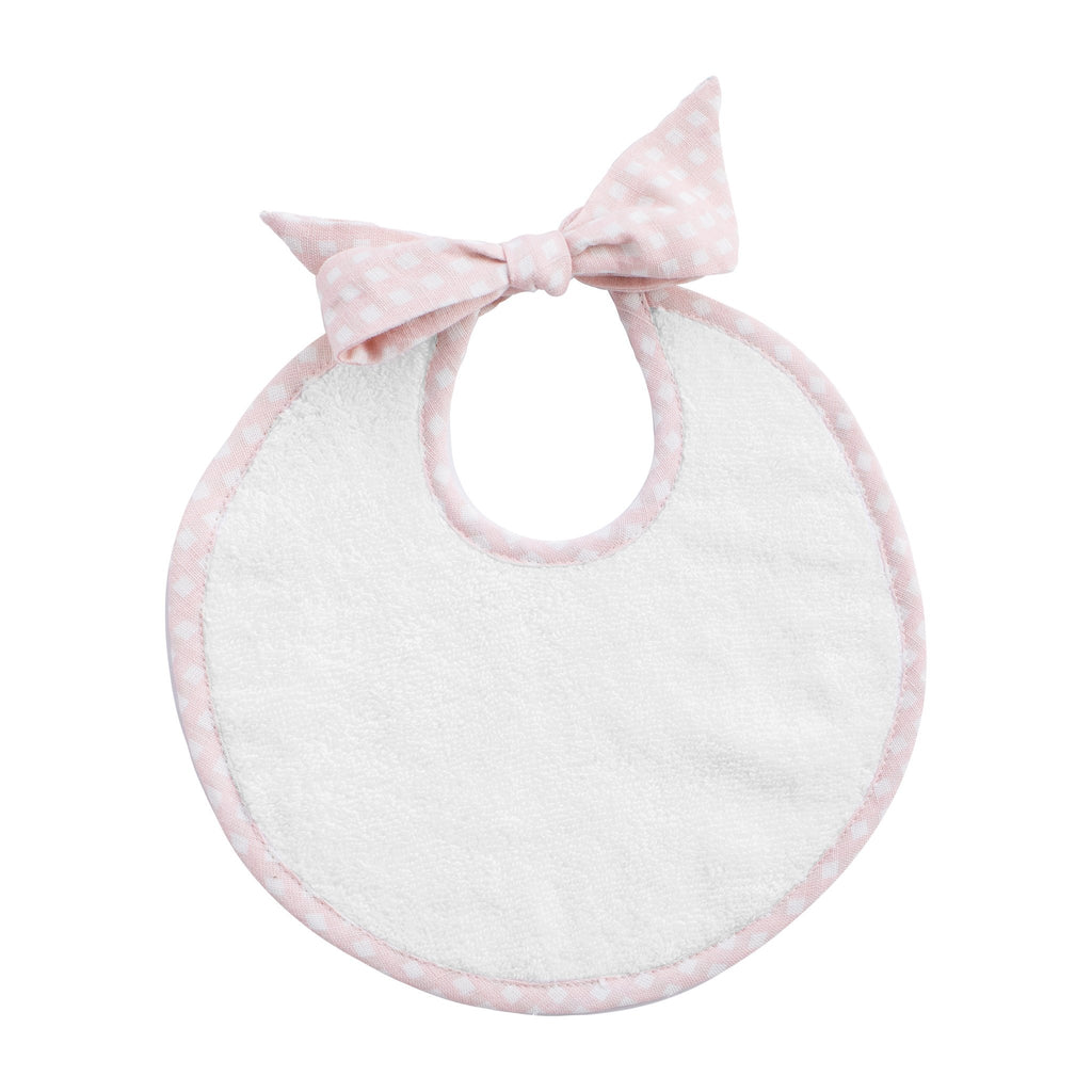 Bib: Dusty Pink Gingham