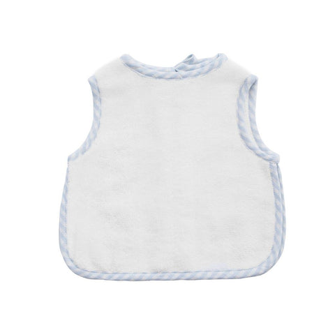 Apron Bib: Pale Blue Gingham