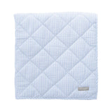 Play Mat/Quilt: Pale Blue Gingham & White