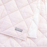 Play Mat/Quilt: Dusty Pink Gingham & White