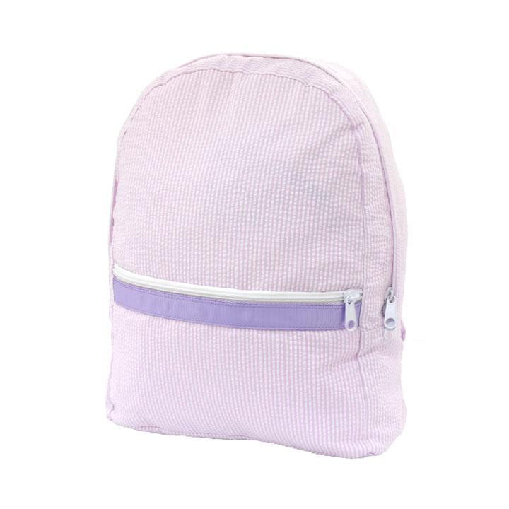 Medium Backpack: Princess Seersucker