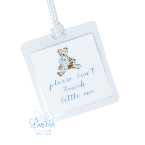 'Please Don't Touch Little Me' Tag in Blue
