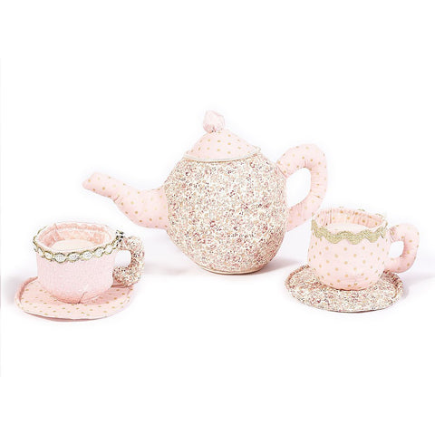 Floral Teapot & Cup Play Set