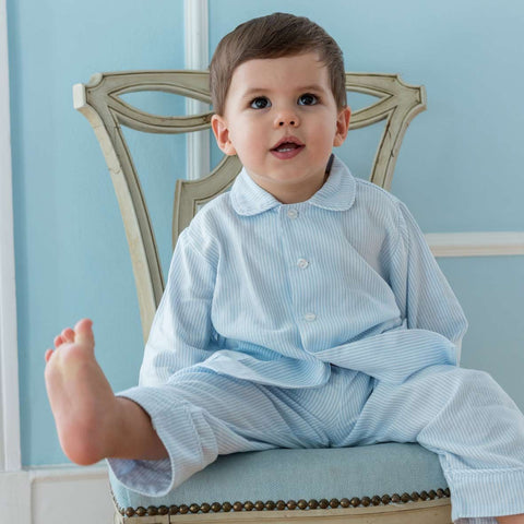 Blue Stripe Lounge Set: Boy