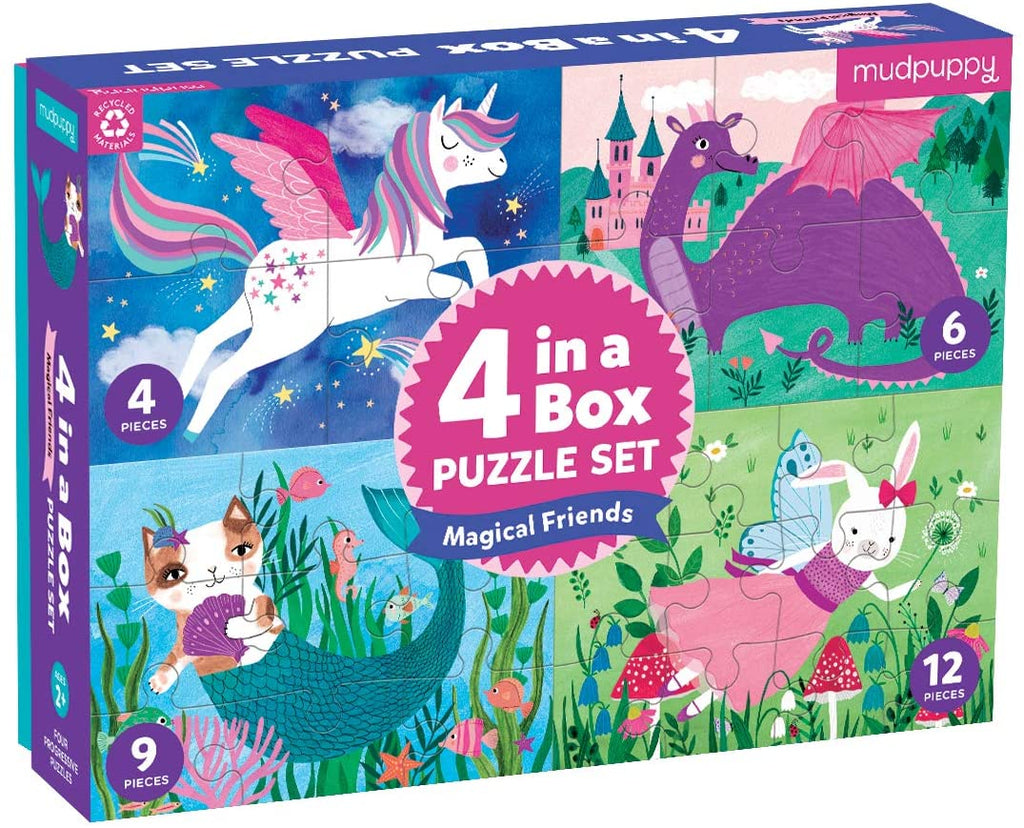 Magical Friends 4 in a Box Puzzle Set