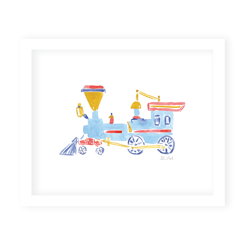 Train Art Print by Gina Langford