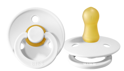 BIBS Pacifiers 2 Pack Set in White