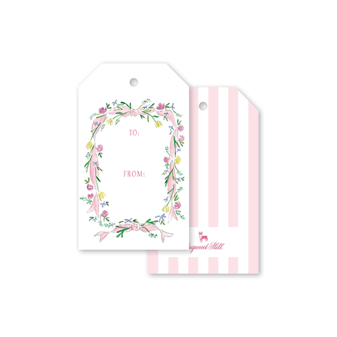 Pink Ribbons Gift Tag by Eden Flora