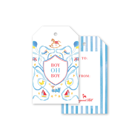 Planes, Trains, Trucks, & Toys Gift Tag by Gina Langford