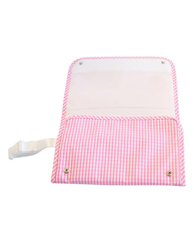 Changing Pad: Pink Gingham