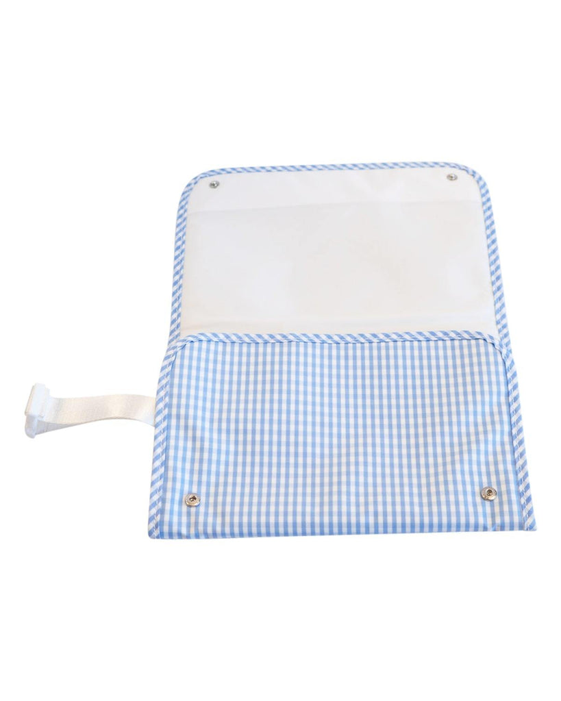 Changing Pad: Sky Blue Gingham