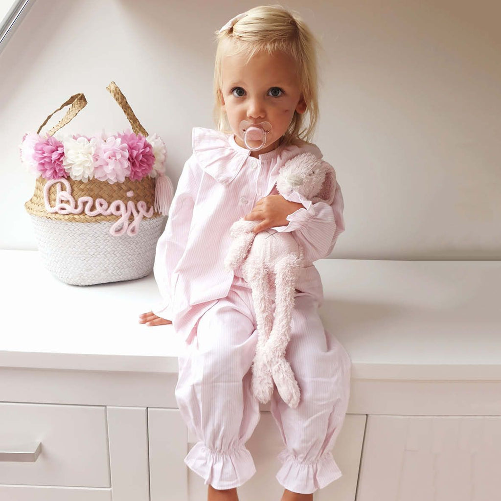 Pink Stripe Girl Lounge Set (12m-10)