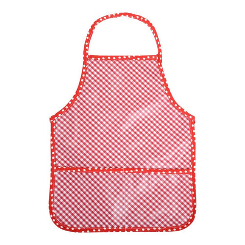 Red Check Laminated Apron