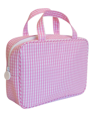 On The Go Bag: Pink Gingham