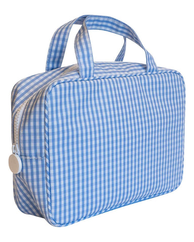 On The Go Bag: Blue Gingham