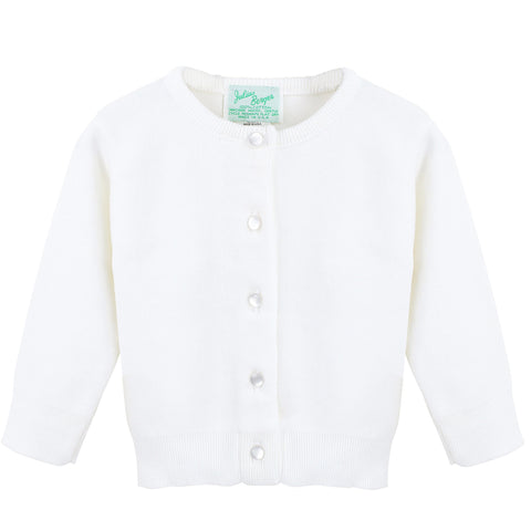 White Cashmere Blend Cardigan (NB-8)