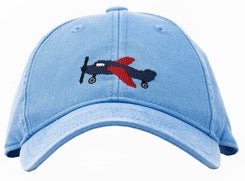 KIDS Airplane on Coast Blue Hat