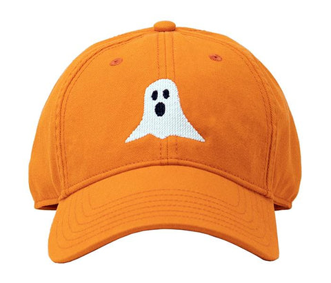 KIDS Ghost on Bright Orange Hat