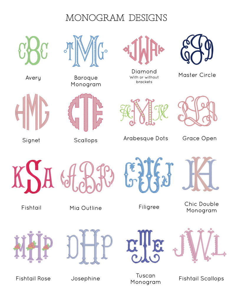 Monogram with Optional Motif ($30)