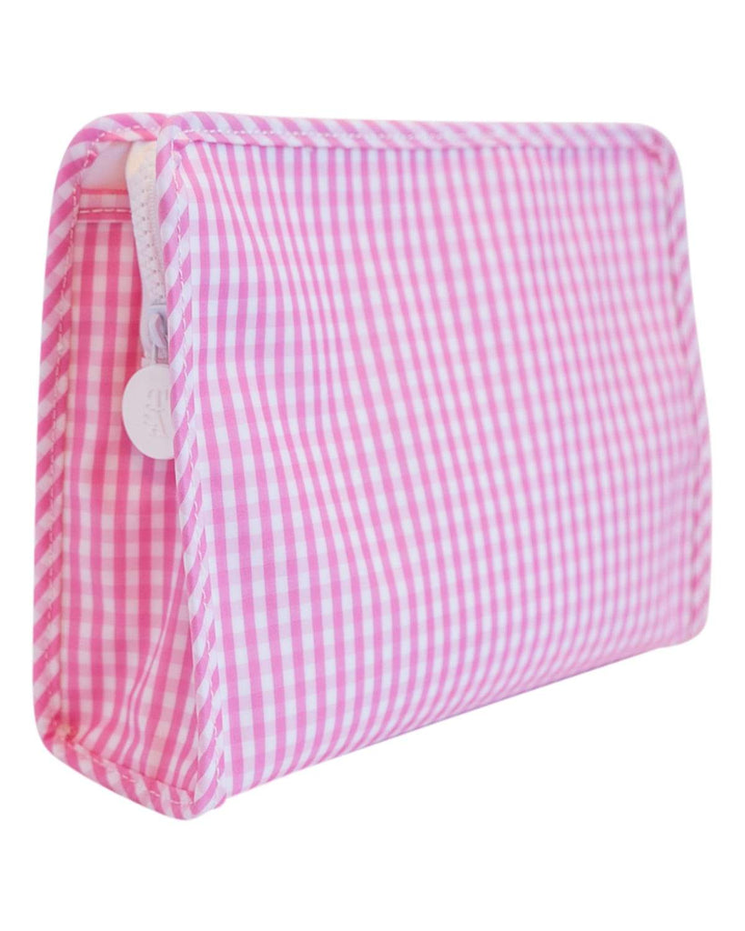 Medium Clutch: Pink Gingham