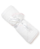 White & Pink Dots Hooded Towel & Mitt Set