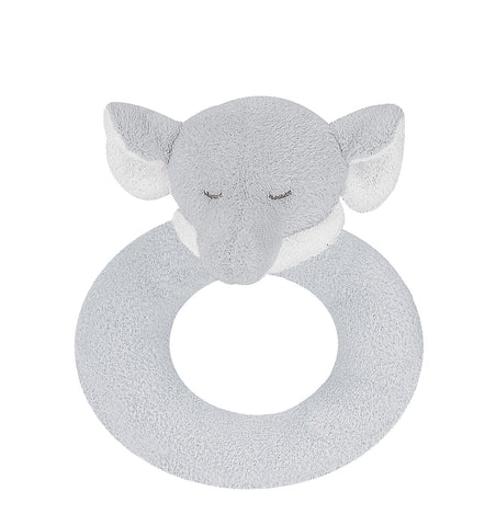 Rattle - Elephant - Grey