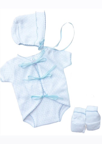 White & Blue Ribbon Onesie